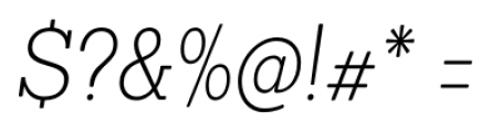 Sanchez Condensed ExtraLight Italic Font OTHER CHARS