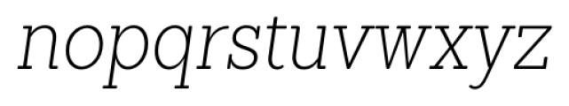 Sanchez Condensed ExtraLight Italic Font LOWERCASE