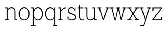Sanchez Condensed ExtraLight Font LOWERCASE