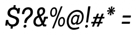 Sanchez Condensed Italic Font OTHER CHARS