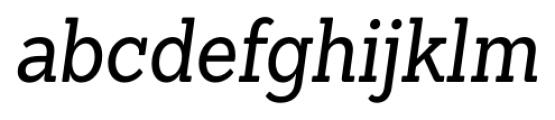 Sanchez Condensed Italic Font LOWERCASE