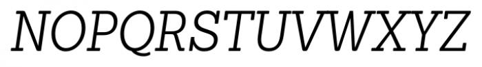 Sanchez Condensed Light Italic Font UPPERCASE