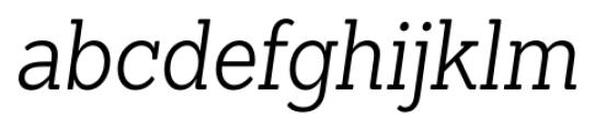 Sanchez Condensed Light Italic Font LOWERCASE
