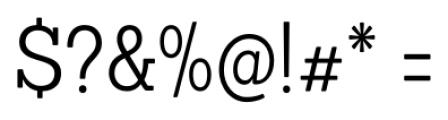 Sanchez Condensed Light Font OTHER CHARS