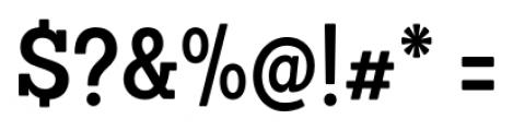 Sanchez Condensed SemiBold Font OTHER CHARS