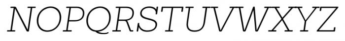 Sanchez ExtraLight Italic Font UPPERCASE