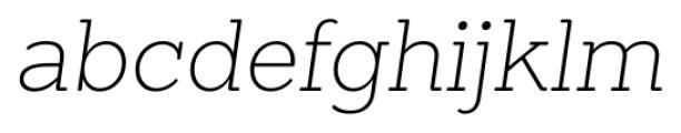 Sanchez ExtraLight Italic Font LOWERCASE