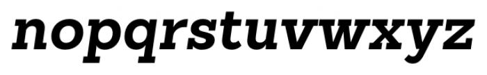 Sanchez Slab Bold Italic Font LOWERCASE