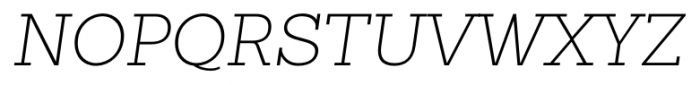 Sanchez Slab ExtraLight Italic Font UPPERCASE