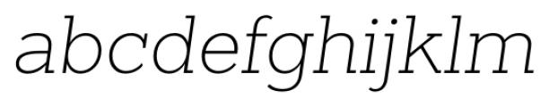 Sanchez Slab ExtraLight Italic Font LOWERCASE