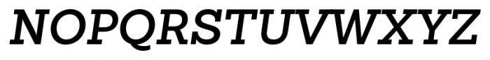 Sanchez Slab SemiBold Italic Font UPPERCASE