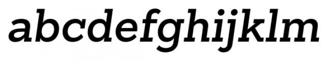 Sanchez Slab SemiBold Italic Font LOWERCASE