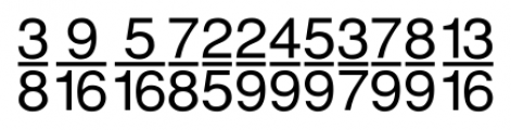 SansFractions Vertical Font LOWERCASE