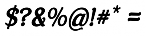 Savor Bold Italic Font OTHER CHARS