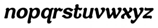 Savor Bold Italic Font LOWERCASE