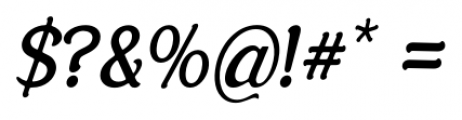 Savor Italic Font OTHER CHARS