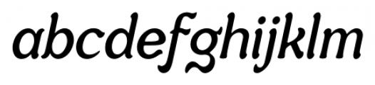 Savor Italic Font LOWERCASE
