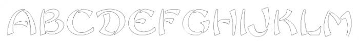 Sayonara Outline Font UPPERCASE