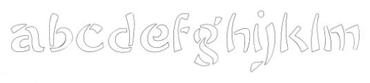 Sayonara Outline Font LOWERCASE