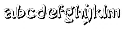 Sayonara Shadow Font LOWERCASE