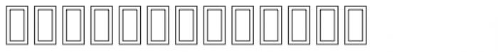 SARA Hollow Font LOWERCASE