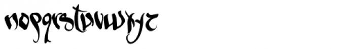 Sabe Ghetto Gothic Font LOWERCASE
