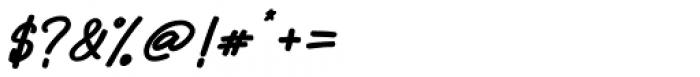 Sabina Bold Italic Font OTHER CHARS
