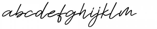 Sabina Italic Font LOWERCASE