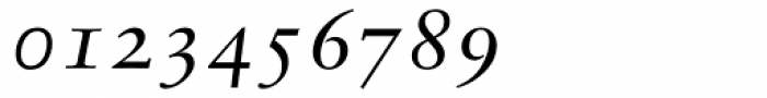 Sabon Italic Oldstyle Figures Font OTHER CHARS