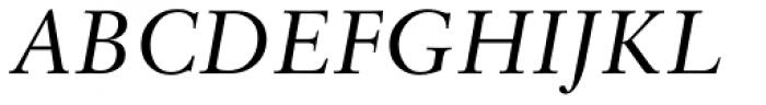 Sabon Italic Oldstyle Figures Font UPPERCASE