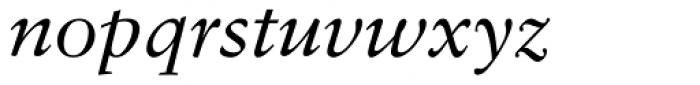 Sabon Italic Oldstyle Figures Font LOWERCASE