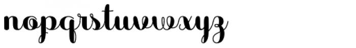 Sabores Script Black Font LOWERCASE