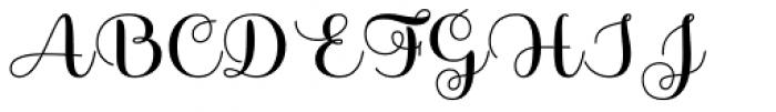 Sabores Script Bold Font UPPERCASE