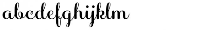 Sabores Script Bold Font LOWERCASE