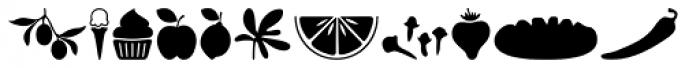 Sabores Script Dingbats Font LOWERCASE