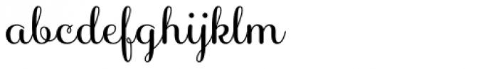 Sabores Script Semibold Font LOWERCASE