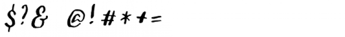 Sachie Script Regular Font OTHER CHARS