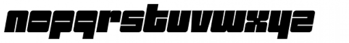 Sackem PB Jumbo Oblique Font LOWERCASE