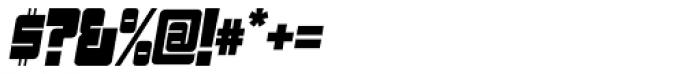 Sackem PB Narrow Oblique Font OTHER CHARS