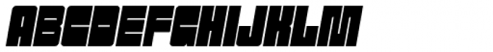 Sackem PB Narrow Oblique Font UPPERCASE