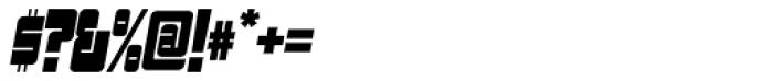 Sackem PB Slim Oblique Font OTHER CHARS