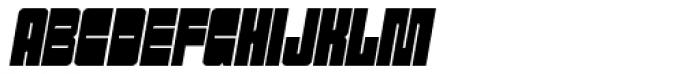 Sackem PB Slim Oblique Font UPPERCASE