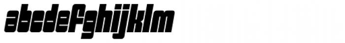 Sackem PB Slim Oblique Font LOWERCASE