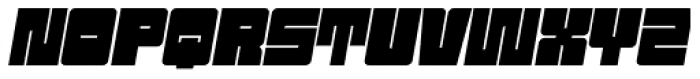 Sackem PB Wide Oblique Font UPPERCASE