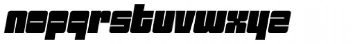 Sackem PB Wide Oblique Font LOWERCASE