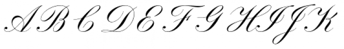 Sackers Script Std English Script Font UPPERCASE