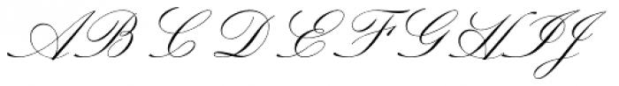 Sackers Script Std Italian Script Font UPPERCASE