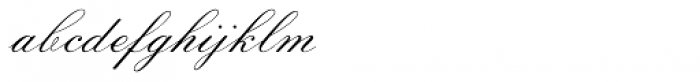 Sackers Script Std Italian Script Font LOWERCASE