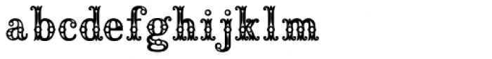 Saddlery Fill Font LOWERCASE