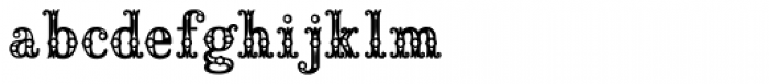 Saddlery Post Fill Font LOWERCASE